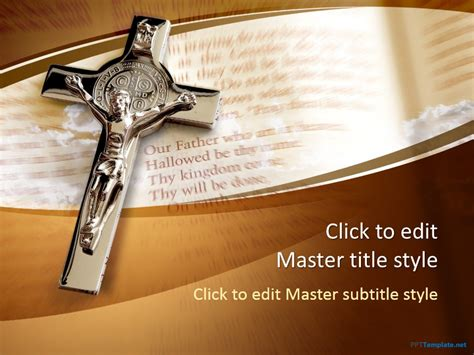 Free Crucifix Ppt Template Catholic Powerpoint Backgrounds