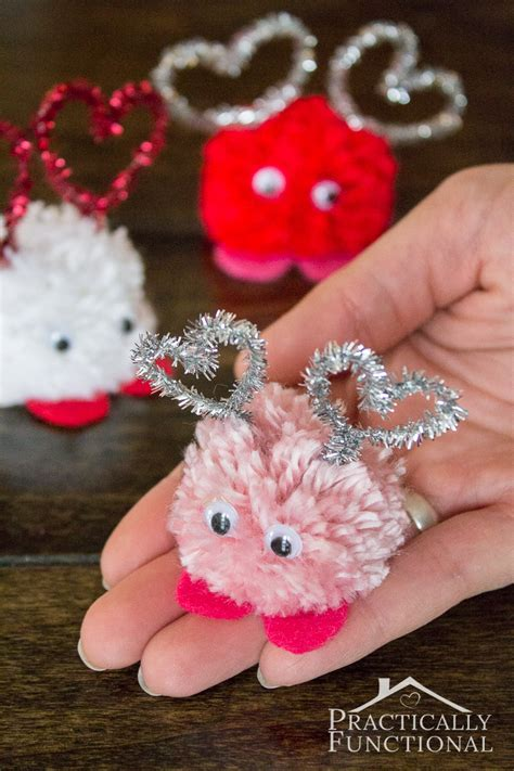what to make your for valentines day how to make pom pom monsters practically functional