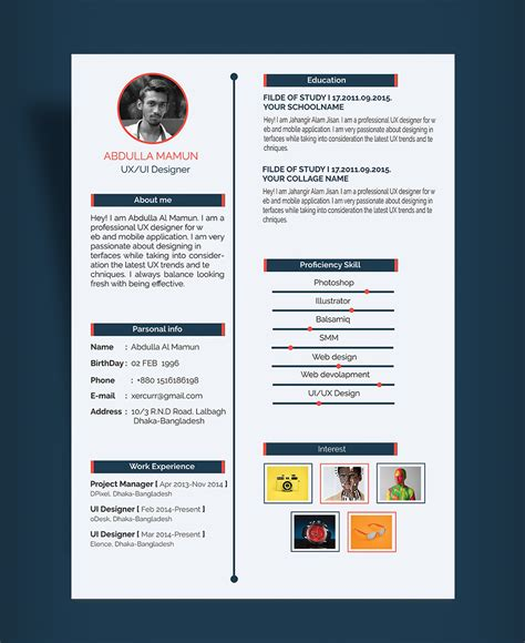 ux design templates free simple resume cv design template for ux ui designer