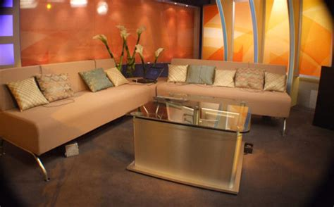 tv studio furniture layout lagoons dubai uae london news interview set eye catching design
