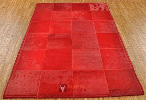 teppiche 80 x 120 exklusiver kuhfell teppich rot 80 x 120 cm bei kuhfelle
