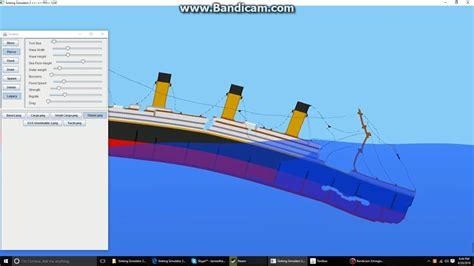 titanic boat iceberg sinking the titanic sinking ship simulator youtube
