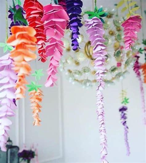 hanging paper flower tutorial wisteria paper flowers hanging wedding flowers svg paper