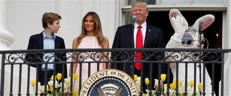 white house egg roll trump family hosts its 1st white house easter egg roll abc news