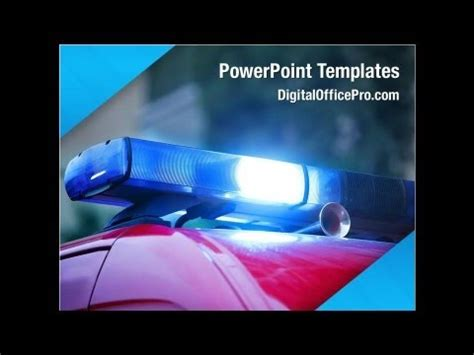 road police powerpoint template backgrounds