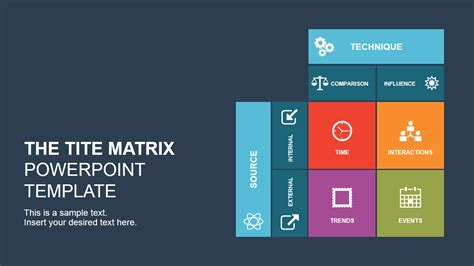 The Tite Matrix Powerpoint Template Slidemodel Matrix Powerpoint Template