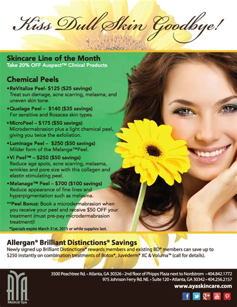 Stallex Skin Care March Promotion by Past Event Specials Information Aya Spa