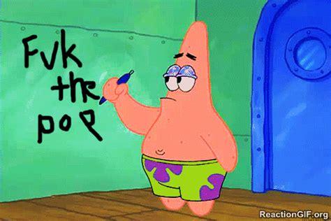 Patrick Moving Meme - gif fuck the police police spongebob patrick star