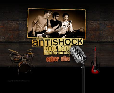 Rock Band Flash Website Template Best Website Templates Band Website Templates