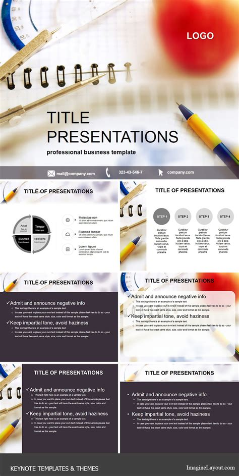 keynote themes education notebook for lesson education keynote templates