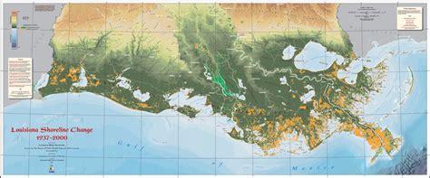 louisiana map change the diminishing coast coleman mccormick