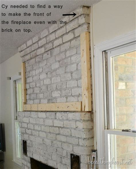 building out a fireplace how to build a fireplace surround beneath my