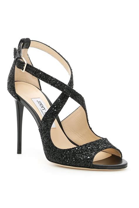 Emily Shoes jimmy choo emily 100 sandals black nero s