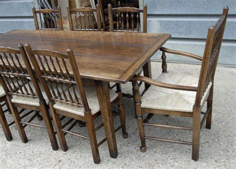 english oak rustic refectory table kitchen diner tables
