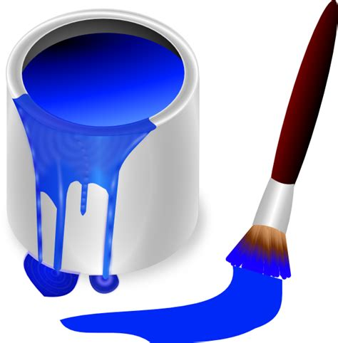 blue paint paint cans and brushes clip art www imgkid com the image kid has it