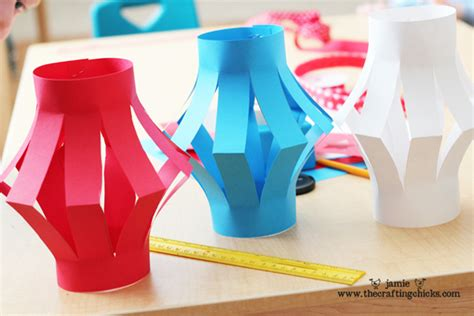 Paper Lanterns Craft - bookinitat50 4th of july paper lanterns kid s craft in
