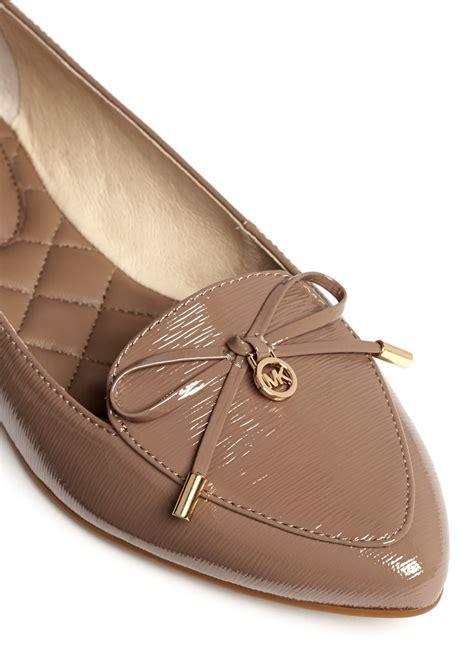 michael kors shoes flats michael kors nancy bow patent leather ballet flats in
