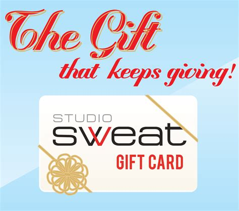 Gift Cards You Can Print - sweat gift cards studio sweat