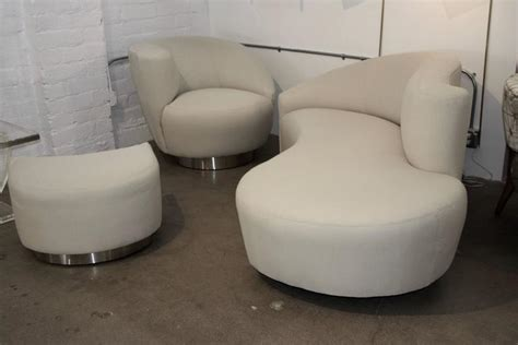 matching chair and ottoman vladimir kagan nautilus sofa and matching chair and