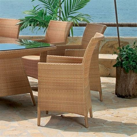 Wicker Patio Dining Chairs Cocoa Outdoor Wicker Dining Chairs Modern Patio Chicago By Home Infatuation