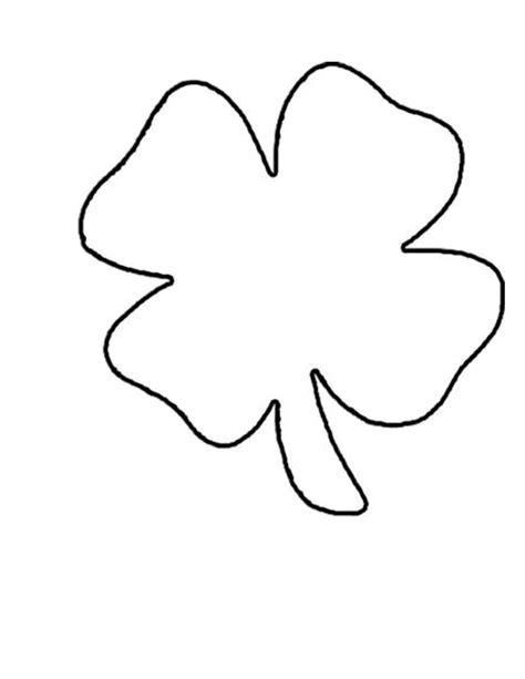 shamrock templates printable 4 leaf clover pattern clipart free to use clip