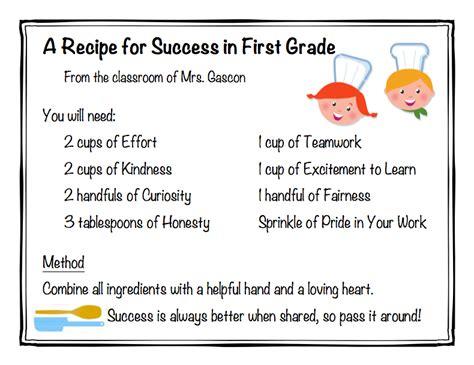 recipe for success mrs gascon s classroom website