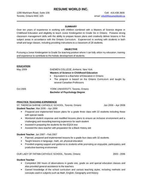 Rn Resume Ontario kindergarten resume resume ideas
