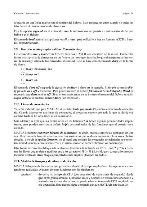 Matlab manual