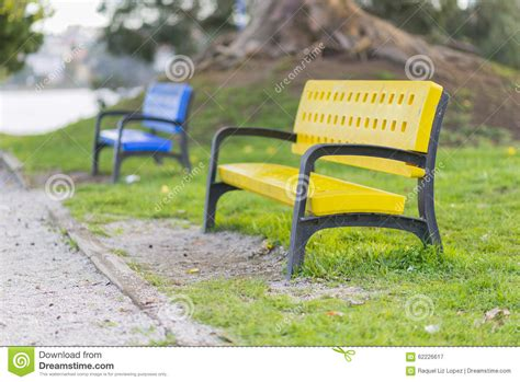 colored benches colored benches stock photo image 62226617