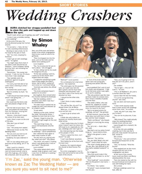 Wedding Crashers News by The Wedding Crashers Simon Whaley
