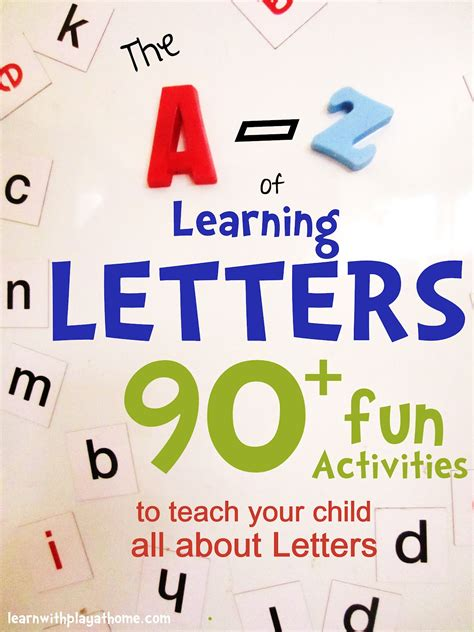 Letter Learning learn with play at home the a z of learning letters 90