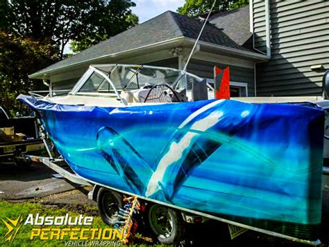 boat wraps maryland absolute perfection boat wrap westminster maryland