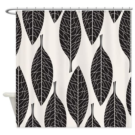 black and white leaf pattern curtains black and white leaves shower curtain by bestshowercurtains