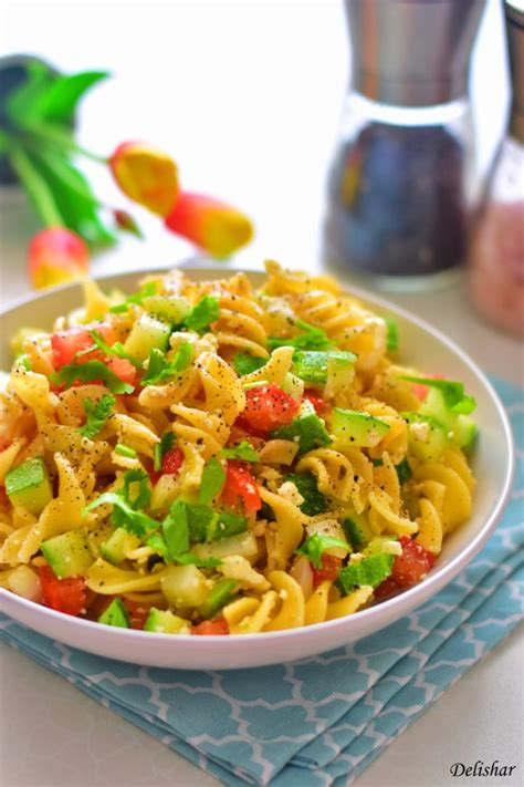 Yummy Pasta Salad | yummy easy pasta salad delishar singapore cooking blog