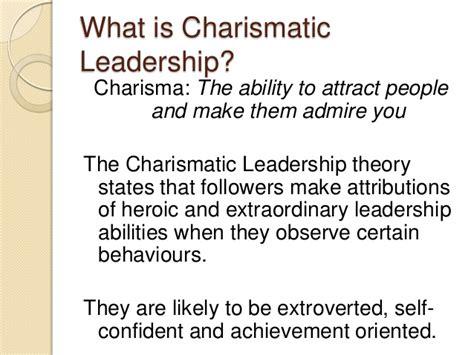 transformative  charismatic leadership