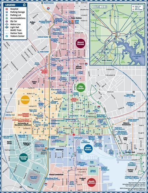 baltimore usa map baltimore parking map