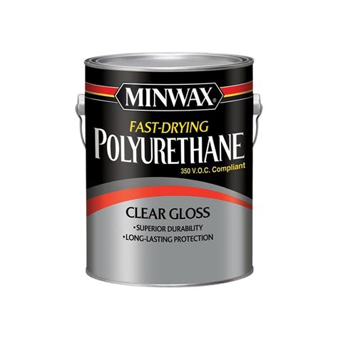 shop minwax fast drying polyurethane gloss oil based 128 fl oz polyurethane at lowes com