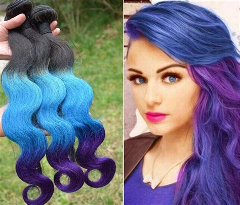 can ypu safely bodywave grey hair ombre brazilian hair weaves extensions body wave t1b blue