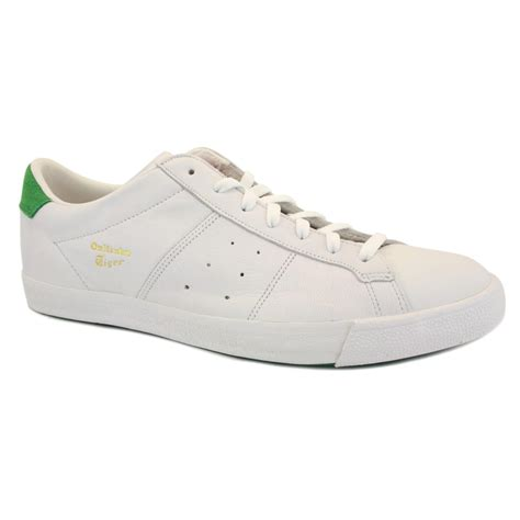 onitsuka tiger lawnship le d308l 0184 mens laced leather trainers white green