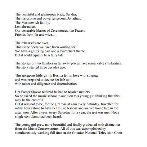 layout of groom wedding speech sle graduation speech 8 documents in word pdf