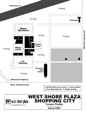 layout of westshore mall mall hall of fame july 2007