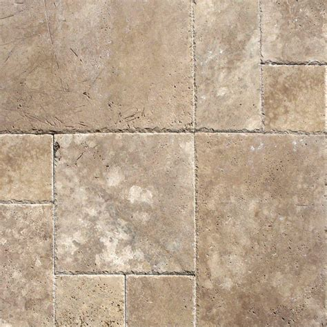 ms international mediterranean walnut pattern honed unfilled chipped travertine floor and wall