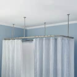Ideas For Oval Shower Curtain Rod Design Curtain Rods Ceiling Mount Curtain Menzilperde Net