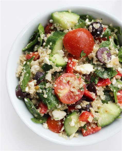 protein quinoa salad mediterranean quinoa salad popsugar fitness