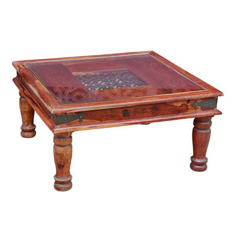 iron coffee table glass top teak and iron glass top coffee table