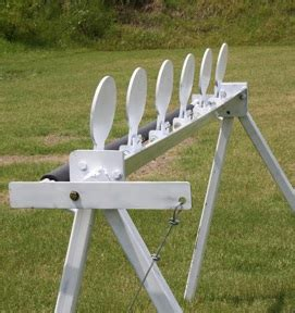 Steel Target Plate Rack by Plate Rack With Remote Reset