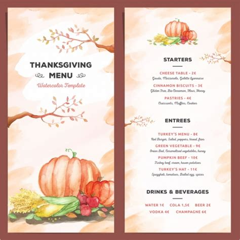 free thanksgiving menu templates 36 thanksgiving menu templates free sle designs