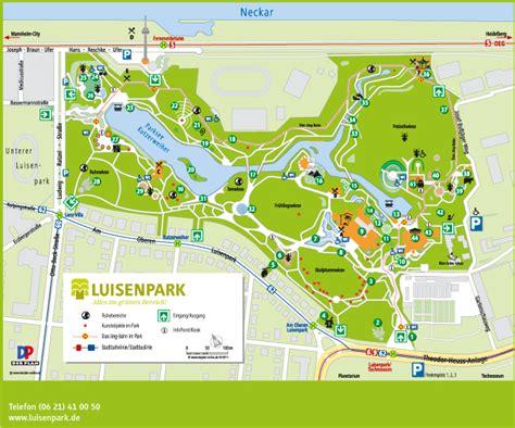 luisenpark mannheim eingang parkplan luisenpark