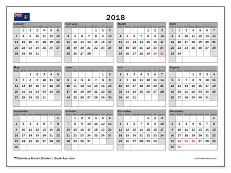 Australia Calendrier 2018 Calendar 2018 South Australia