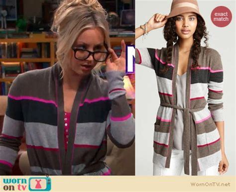 The Big Theory Wardrobe by Wornontv Penny S Striped Cardigan On The Big Theory